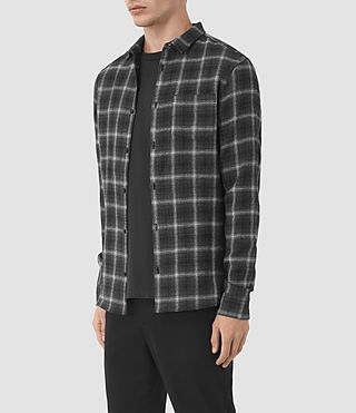 Hommes Crenshaw Ls Shirt (Black) - product_image_alt_text_2