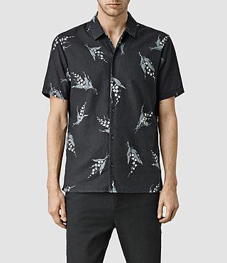 Mens Malakal Short Sleeve Shirt (INK NAVY)