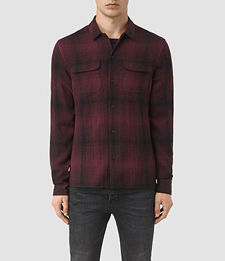 Hombres Decatur Long Sleeve Shirt (Oxblood)