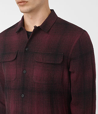 Uomo Decatur Long Sleeve Shirt (Oxblood) - product_image_alt_text_2