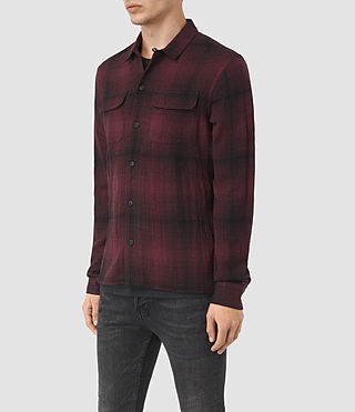 Uomo Decatur Long Sleeve Shirt (Oxblood) - product_image_alt_text_3