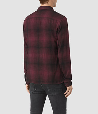 Uomo Decatur Long Sleeve Shirt (Oxblood) - product_image_alt_text_4