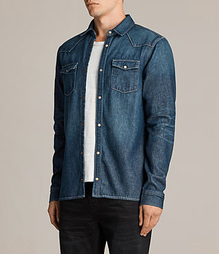 Men's Irby Denim Shirt (Indigo Blue) - Image 3