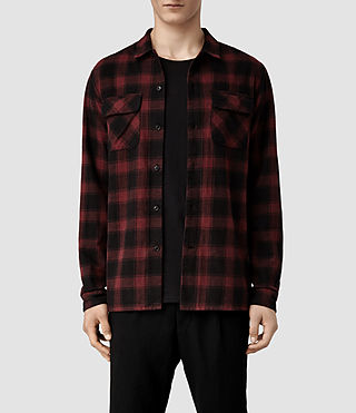 Mens Palisade Shirt (Red/Black)