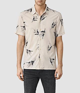Mens Shuster Short Sleeve Shirt (ECRU WHITE)
