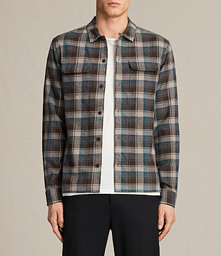 Hombres Maitland Shirt (Washed Khaki Brown)