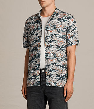 Men's Vanuatu Short Sleeve Shirt (CONCRETE GREY) - product_image_alt_text_3