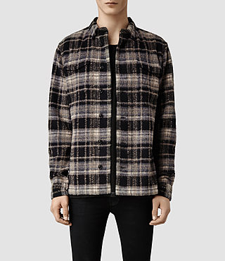 Mens Englewood Shirt (Dark Ink Check)