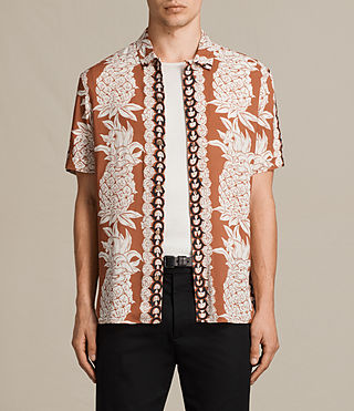 Men's Ananas Short Sleeve Shirt (SUNSTONE RED) - Image 1