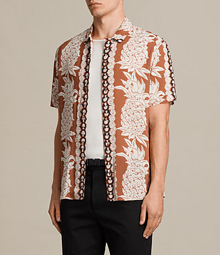 Men's Ananas Short Sleeve Shirt (SUNSTONE RED) - Image 3