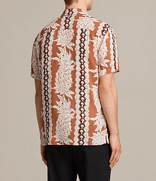 Men's Ananas Short Sleeve Shirt (SUNSTONE RED) - Image 4