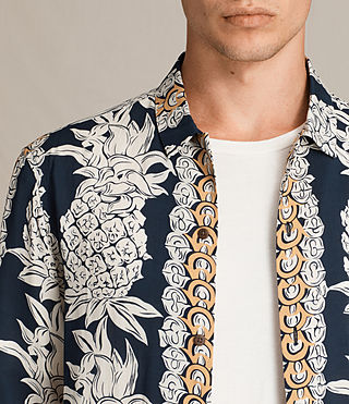 Mens Ananas Shirt (INK NAVY) - product_image_alt_text_2