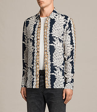 Mens Ananas Shirt (INK NAVY) - product_image_alt_text_3