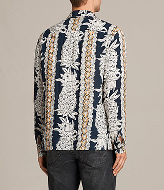 Mens Ananas Shirt (INK NAVY) - product_image_alt_text_4
