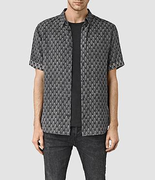 Mens Auray Short Sleeve Shirt (Washed Black)