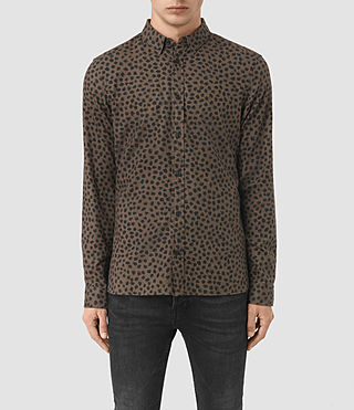 Hombres Orleans Shirt (BATTLE BROWN)