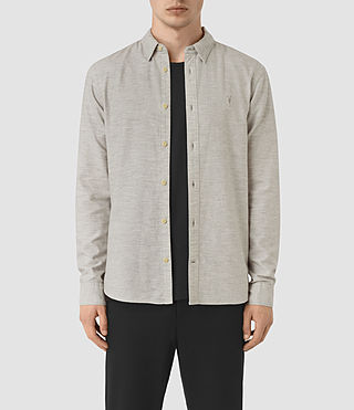 Hommes Ramey Long Sleeve Shirt (Light Grey)