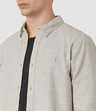 Hommes Ramey Long Sleeve Shirt (Light Grey) - product_image_alt_text_2