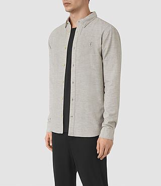 Hommes Ramey Long Sleeve Shirt (Light Grey) - product_image_alt_text_3