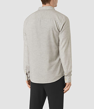 Hommes Ramey Long Sleeve Shirt (Light Grey) - product_image_alt_text_4