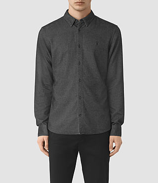 Hommes Ramey Long Sleeve Shirt (Black) -