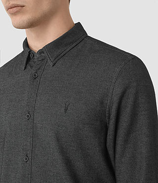 Hommes Ramey Long Sleeve Shirt (Black) - product_image_alt_text_2
