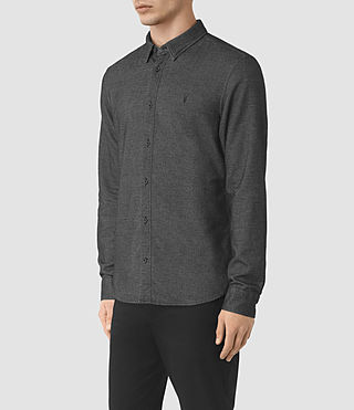 Hommes Ramey Long Sleeve Shirt (Black) - product_image_alt_text_3