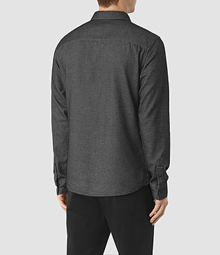 Hommes Ramey Long Sleeve Shirt (Black) - product_image_alt_text_4