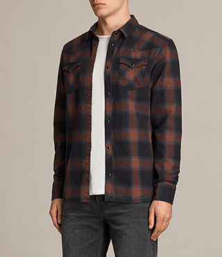Hombres Nook Ls Shirt (Red) - product_image_alt_text_3