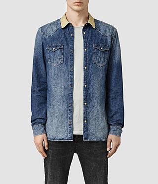 Men's Tanner Shirt (MID INDIGO BLUE)