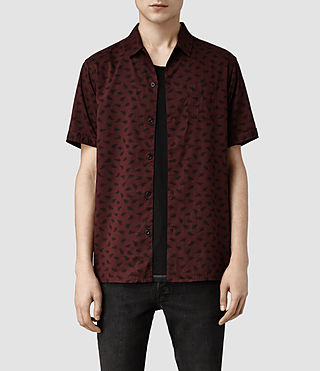 Mens Havre Short Sleeved Shirt (BURNT RED)