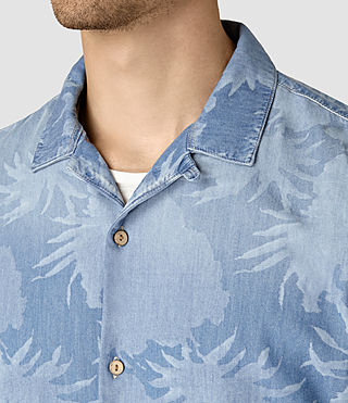 Mens Manuka Short Sleeve Shirt (LIGHT INDIGO BLUE) - product_image_alt_text_2