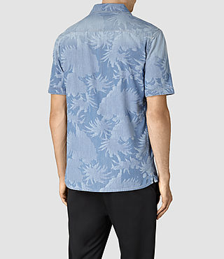 Mens Manuka Short Sleeve Shirt (LIGHT INDIGO BLUE) - product_image_alt_text_4