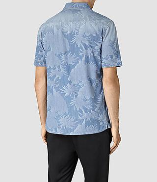 Hombre Manuka Short Sleeve Shirt (LIGHT INDIGO BLUE) - product_image_alt_text_4