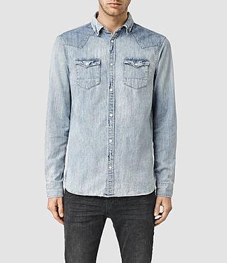 Men's Burke Denim Shirt (LIGHT INDIGO BLUE)