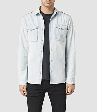 Men's Dega Denim Shirt (Indigo Blue)