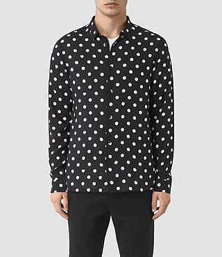 Mens Rolla Shirt (Jet Black) - product_image_alt_text_1