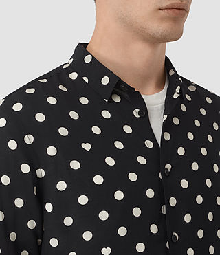 Men's Rolla Shirt (Jet Black) - product_image_alt_text_2