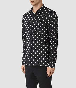 Men's Rolla Shirt (Jet Black) - product_image_alt_text_3