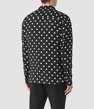 Men's Rolla Shirt (Jet Black) - product_image_alt_text_4