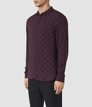 Hombres Rolla Ls Shirt (Damson Red) - product_image_alt_text_2