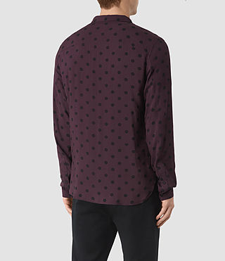 Uomo Rolla Shirt (Damson Red) - product_image_alt_text_3
