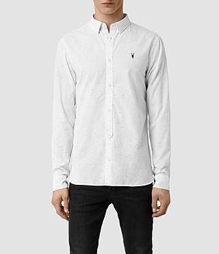 Mens Waycross Ls Shirt (Off White)