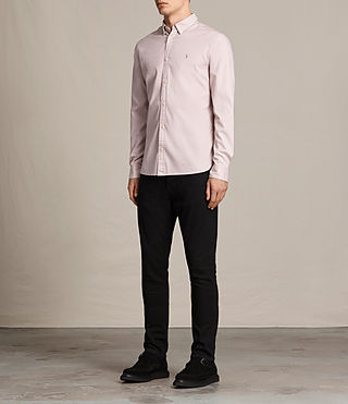 Hommes Redondo Ls Shirt (ASH PINK) - product_image_alt_text_3