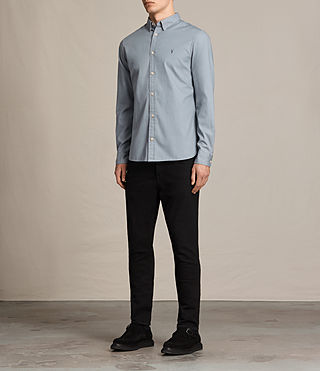 Men's Redondo Ls Shirt (SHADOW BLUE) - product_image_alt_text_3