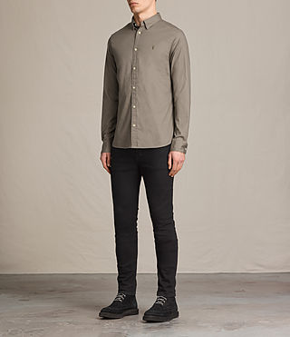 Men's Redondo Shirt (Taupe) - product_image_alt_text_2