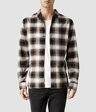 Mens Dwight Shirt (Rust Check)