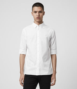 Men's Redondo Half Sleeved Shirt (White)