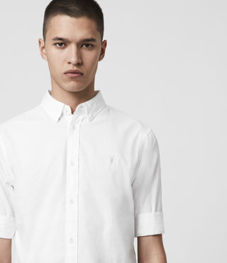 Men's Redondo Half Sleeved Shirt (White) - Image 2