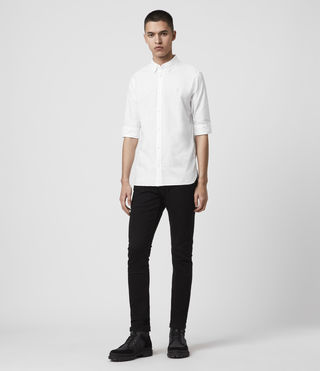 Men's Redondo Half Sleeved Shirt (White) - Image 3